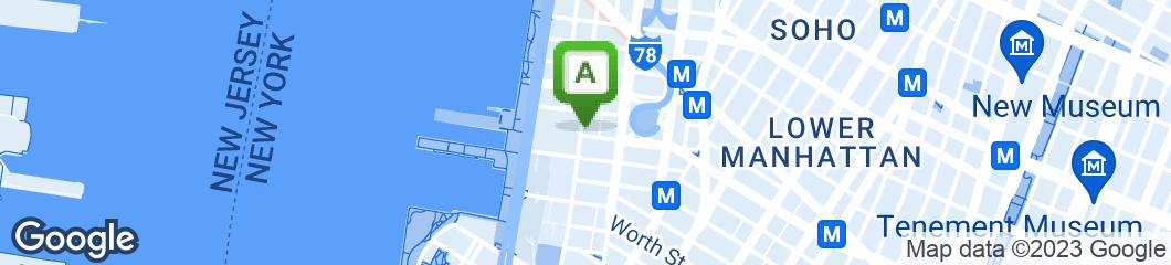Map of Greenwich Street Tavern