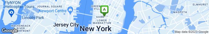 Map of Broadway Gourmet
