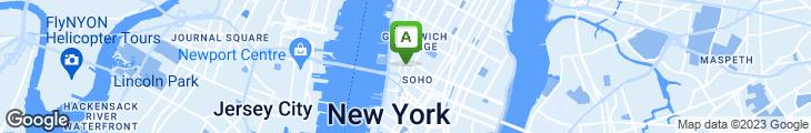 Map of Dizzy Izzy's New York Bagels