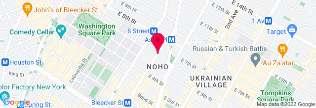 Map for Joe's Pub