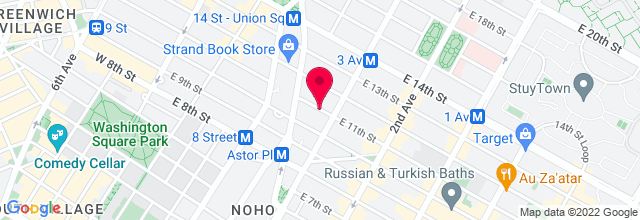 Map for Marlin Room at Webster Hall
