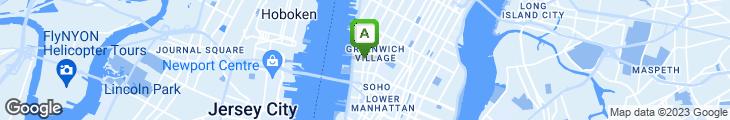 Map of Hudson Diner