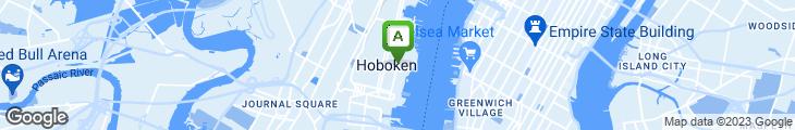 Map of Hoboken Hot Bagels