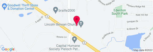 Map for Lincoln Berean Church