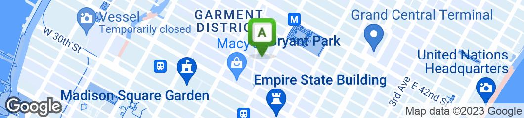 Map of Mr. Broadway Kosher Restaurant
