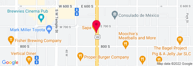 Map for Burt's Tiki Lounge