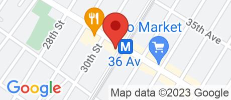 Branch Location Map - Bank of America, Li City-36th Avenue Branch, 30-18 36th Avenue, Long Island City NY