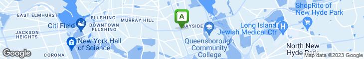 Map of Bayside Diner