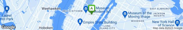 Map of AZZA Restaurant & Lounge