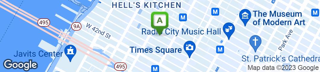 Map of Bourbon Street Bar & Grille