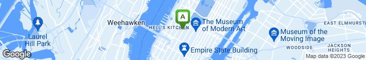 Map of Blue Dog Restaurant