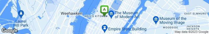 Map of N.Y.C. Midtown Gourmet Deli