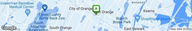 Map of East Orange Diner