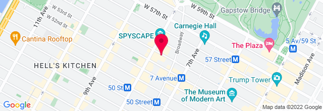Map for 54 Below
