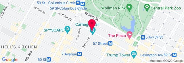 Map for Zankel Hall, Carnegie Hall