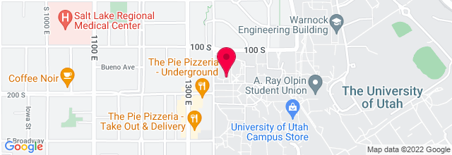 Map for University of Utah