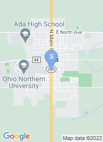Ohio Northern University map