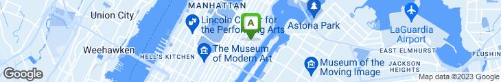Map of 2nd Avenue Deli