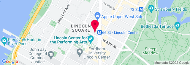 Map for Lincoln Center for the Performing Arts
