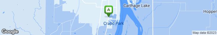 Map of Chopper's Pizzeria & Steak House