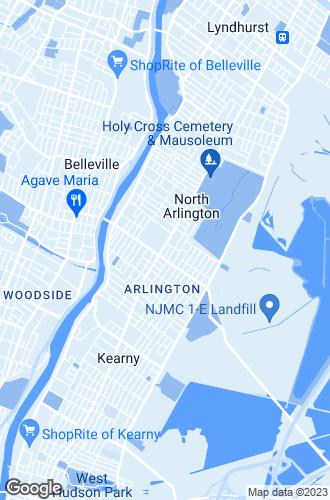 Map of North Arlington