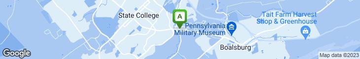 Map of Backyard Burgers