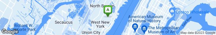Map of Antonio's Restaurant & Pizzeria