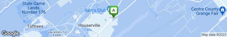 Map of Garfield's Restaurant & Pub