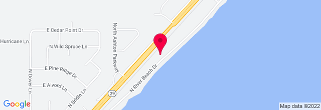 Map for River Beach Pub and Eatery