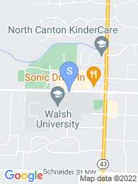 Walsh University map