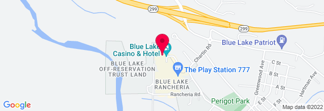 Map for Blue Lake Casino & Hotel