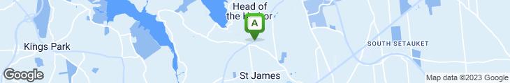 Map of Oscar's Of St. James Restaurant & Bar