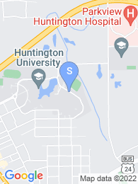 Huntington University map