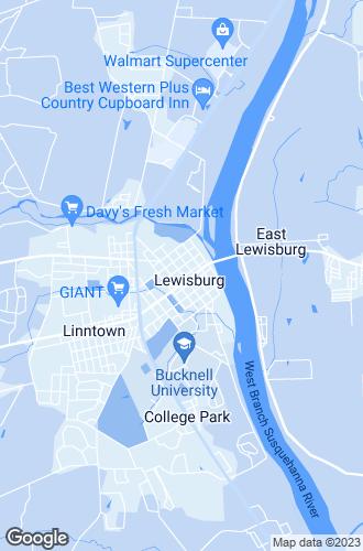 Map of Lewisburg