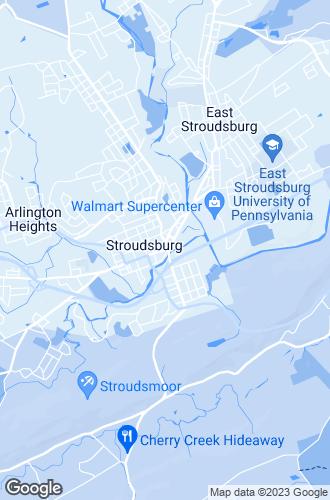 Map of Stroudsburg