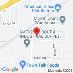 Google Map of 400 North Beach Street, Fort Worth, Texas 76111