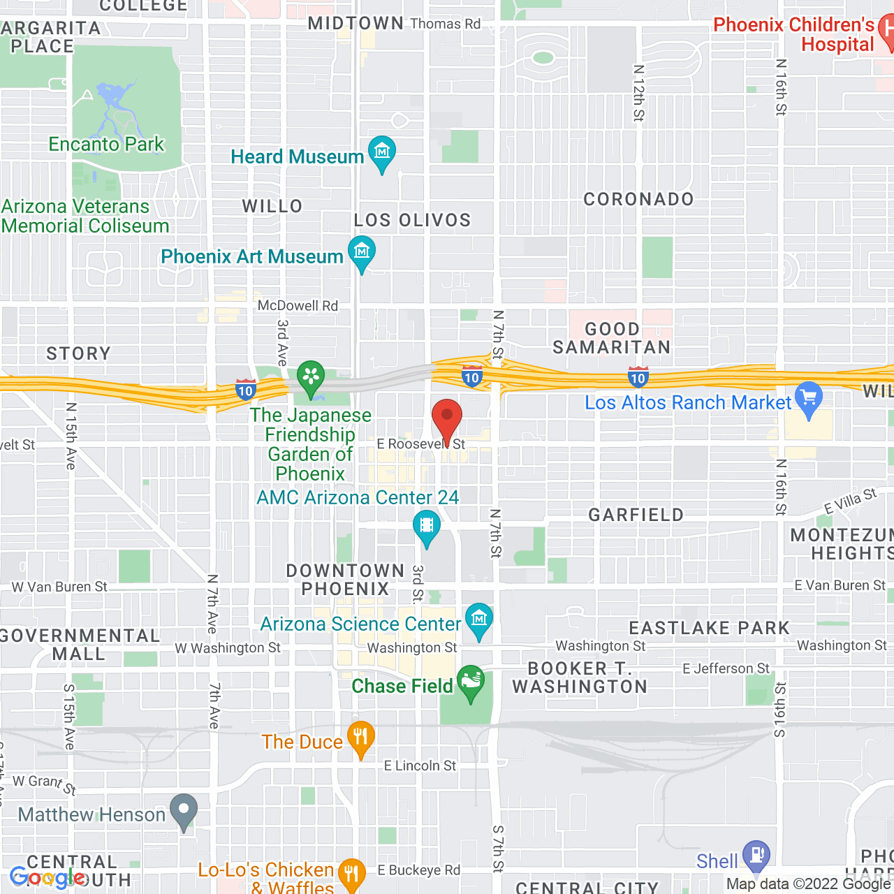 location for First Fridays Phoenix 12/01/2107
