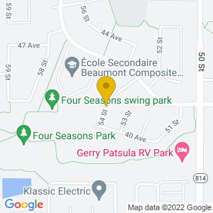 Map to Beaumont Blues & Roots Festival Site provided by Google