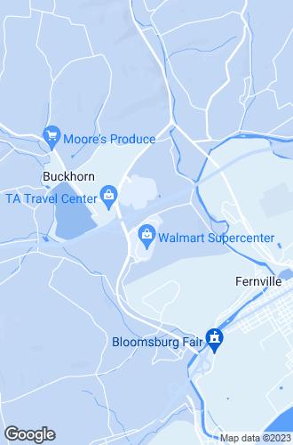 Map of Bloomsburg