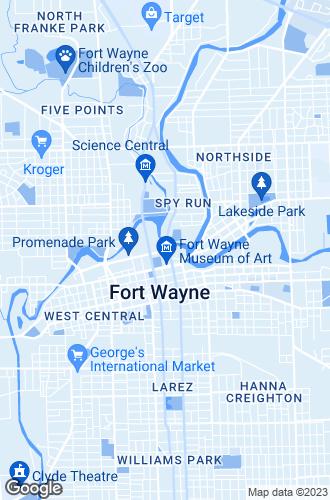 Map of Fort Wayne