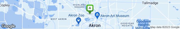 Map of Akron Family Restaurant