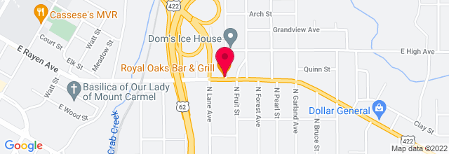 Map for Royal Oaks Bar and Grill