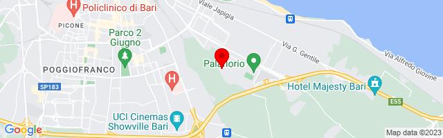 Google Map di 41.10220371828175,16.898771477717194