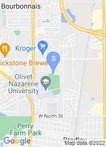 Olivet Nazarene University map