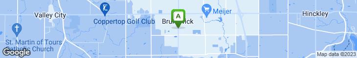 Map of Brunswick Family Restaurant