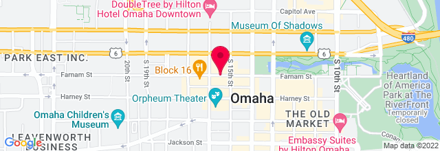 Map for Omaha Summer Arts Festival