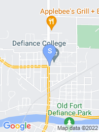 Defiance College map