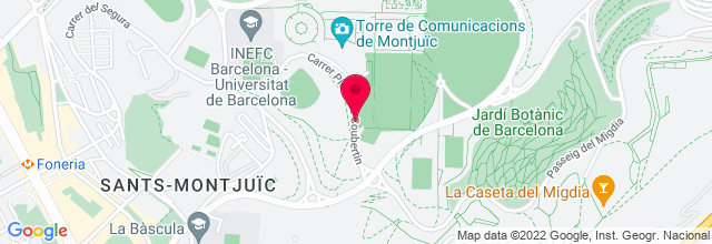 Map for Sant Jordi Club