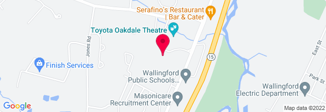 Map for Toyota Presents the Oakdale Theatre