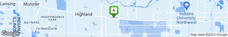 Map of Ponderosa Steak House